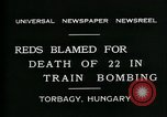 Image of train accident Torbagy Hungary, 1931, second 3 stock footage video 65675035116