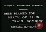Image of train accident Torbagy Hungary, 1931, second 6 stock footage video 65675035116
