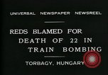 Image of train accident Torbagy Hungary, 1931, second 7 stock footage video 65675035116