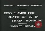 Image of train accident Torbagy Hungary, 1931, second 8 stock footage video 65675035116