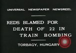 Image of train accident Torbagy Hungary, 1931, second 9 stock footage video 65675035116