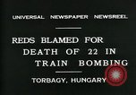 Image of train accident Torbagy Hungary, 1931, second 10 stock footage video 65675035116