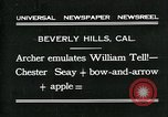 Image of archer Beverly Hills California USA, 1931, second 1 stock footage video 65675035118