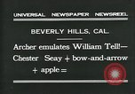 Image of archer Beverly Hills California USA, 1931, second 5 stock footage video 65675035118