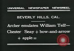 Image of archer Beverly Hills California USA, 1931, second 6 stock footage video 65675035118