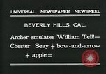 Image of archer Beverly Hills California USA, 1931, second 7 stock footage video 65675035118