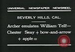 Image of archer Beverly Hills California USA, 1931, second 8 stock footage video 65675035118