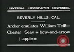 Image of archer Beverly Hills California USA, 1931, second 9 stock footage video 65675035118