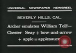 Image of archer Beverly Hills California USA, 1931, second 10 stock footage video 65675035118