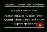 Image of archer Beverly Hills California USA, 1931, second 11 stock footage video 65675035118