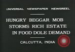 Image of beggars Calcutta India, 1931, second 8 stock footage video 65675035120