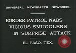 Image of Border Patrol El Paso Texas USA, 1931, second 10 stock footage video 65675035122