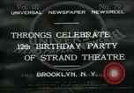 Image of Strand Theater Brooklyn New York City USA, 1931, second 1 stock footage video 65675035123