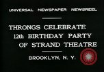 Image of Strand Theater Brooklyn New York City USA, 1931, second 2 stock footage video 65675035123
