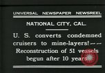 Image of American ships National City California USA, 1931, second 8 stock footage video 65675035124