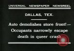 Image of damage from car hitting a building Dallas Texas USA, 1931, second 1 stock footage video 65675035127
