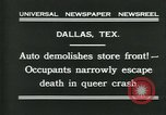 Image of damage from car hitting a building Dallas Texas USA, 1931, second 2 stock footage video 65675035127