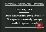 Image of damage from car hitting a building Dallas Texas USA, 1931, second 3 stock footage video 65675035127
