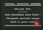 Image of damage from car hitting a building Dallas Texas USA, 1931, second 9 stock footage video 65675035127
