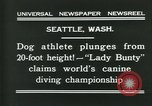 Image of dog athlete Seattle Washington USA, 1931, second 4 stock footage video 65675035128