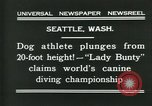 Image of dog athlete Seattle Washington USA, 1931, second 8 stock footage video 65675035128