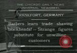Image of barbers Frankfurt Germany, 1931, second 1 stock footage video 65675035129