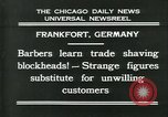 Image of barbers Frankfurt Germany, 1931, second 2 stock footage video 65675035129