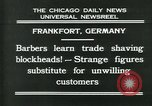 Image of barbers Frankfurt Germany, 1931, second 3 stock footage video 65675035129