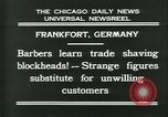 Image of barbers Frankfurt Germany, 1931, second 6 stock footage video 65675035129