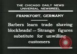 Image of barbers Frankfurt Germany, 1931, second 9 stock footage video 65675035129
