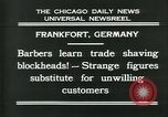 Image of barbers Frankfurt Germany, 1931, second 10 stock footage video 65675035129