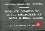 Image of miner's strike Saint Clairsville Ohio USA, 1931, second 1 stock footage video 65675035131