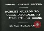 Image of miner's strike Saint Clairsville Ohio USA, 1931, second 2 stock footage video 65675035131