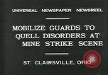 Image of miner's strike Saint Clairsville Ohio USA, 1931, second 3 stock footage video 65675035131