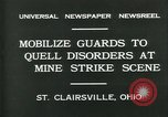 Image of miner's strike Saint Clairsville Ohio USA, 1931, second 5 stock footage video 65675035131