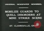 Image of miner's strike Saint Clairsville Ohio USA, 1931, second 9 stock footage video 65675035131
