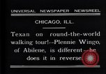 Image of Texan man Chicago Illinois USA, 1931, second 3 stock footage video 65675035138