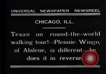Image of Texan man Chicago Illinois USA, 1931, second 5 stock footage video 65675035138