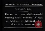 Image of Texan man Chicago Illinois USA, 1931, second 8 stock footage video 65675035138