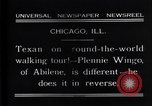 Image of Texan man Chicago Illinois USA, 1931, second 9 stock footage video 65675035138