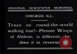 Image of Texan man Chicago Illinois USA, 1931, second 10 stock footage video 65675035138