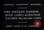 Image of fire Saint John New Brunswick, 1931, second 2 stock footage video 65675035141