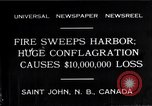 Image of fire Saint John New Brunswick, 1931, second 3 stock footage video 65675035141