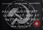 Image of communist mob New York United States USA, 1932, second 1 stock footage video 65675035143
