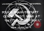 Image of communist mob New York United States USA, 1932, second 2 stock footage video 65675035143