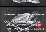 Image of mine workers killed Boissevain Virginia USA, 1932, second 1 stock footage video 65675035144