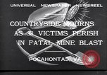 Image of mine workers killed Boissevain Virginia USA, 1932, second 2 stock footage video 65675035144