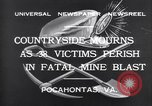 Image of mine workers killed Boissevain Virginia USA, 1932, second 3 stock footage video 65675035144