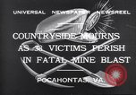Image of mine workers killed Boissevain Virginia USA, 1932, second 5 stock footage video 65675035144