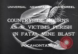 Image of mine workers killed Boissevain Virginia USA, 1932, second 6 stock footage video 65675035144